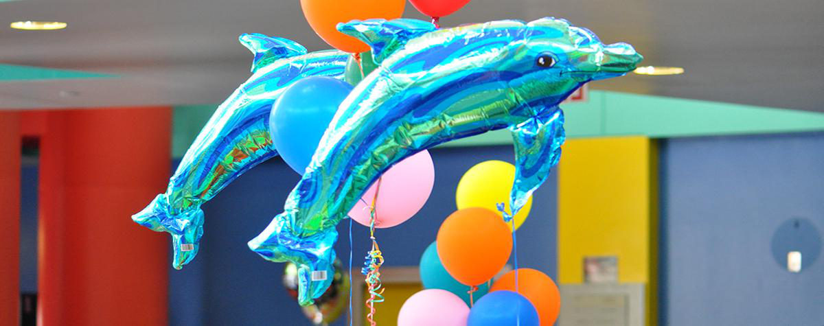 Dolphin shaped balloons